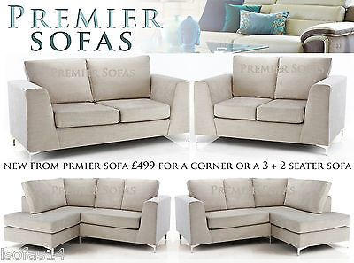 Brand New Studio Fabric Sofa Corner Settee Or 3 2 Seater Suite Fast Delivery