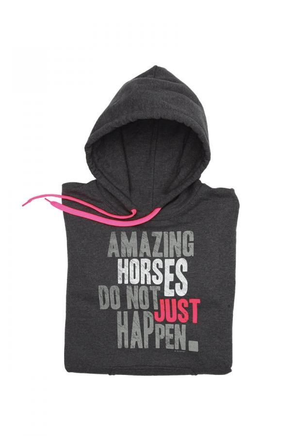"The Hitching Post Tack Shop- ""Amazing horses do not just happen"" Women's Hoodie"