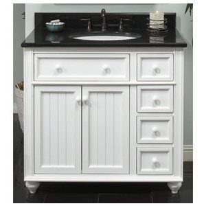 Sagehill, CR3621D, Bathroom Vanities, Sagehill Designs Cr3621D 36 White Bathroom Vanity From The Cottage Retreat Collection