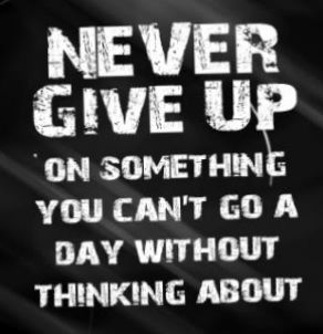 "#quote inspirations sotrue ""never give up on something you can't go a"