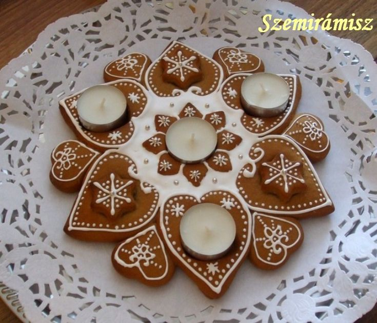 Szemirámisz függőkertje: Adventi mézeskalács  -- gingerbread advent light wreath