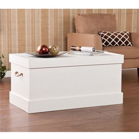 Showcasing a crisp white finish and rope handles this for Ample storage