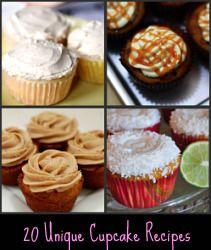 20 cupcake recipes: 20 Unique, Recipe Cupcake, Cupcake Rosa-Choqu, 20 Cupcake, Cupcake Recipes, Caramel Pecan, Tops 20, Cupcake Ideas, Unique Cupcake Flavored Ideas