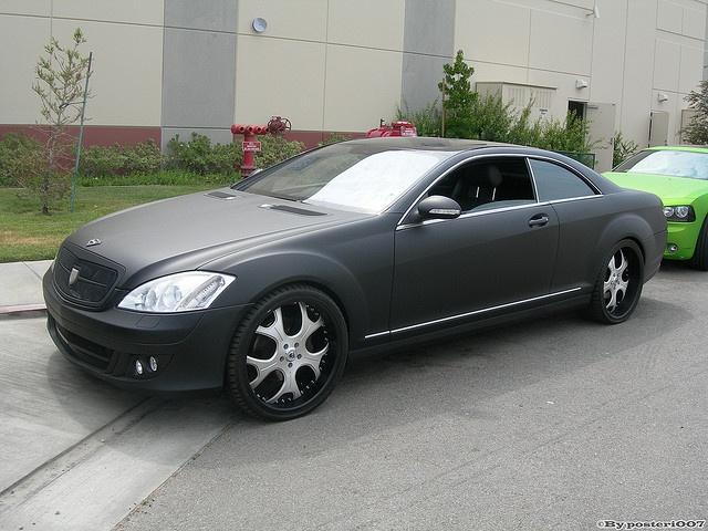 Matte Black Mercedes S-Class by West Coast Customs - love the matte!