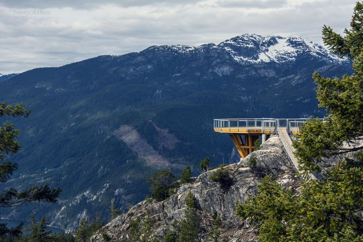 The Sea to Sky Gondola's lookout platform.  There's definitely some half-decent views to be had from over there.  Full post at http://www.onelifeonewhistler.com/squamish/