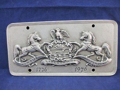 Pa Bicentennial Pewter License Plate Wilton Armetale 1776