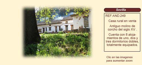 AND249 Sierra Morena. Sevilla  Casa rural en venta http://www.lancoisdoval.es/casas-rurales-en-venta.html