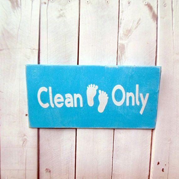 Reinigen der Füße nur Schilder, Wipe Your Feet Sign, Schuhe aus Schilder, Tür Schilder, Pool Schilder, Schwimmbad Schilder, Veranda Zeichen, Wash Your Feet Sign