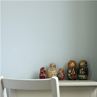 Children's Room in Borrowed Light Estate Emulsion (Farrow and Ball), chair/desk in Elephants Breath Estate Eggshell