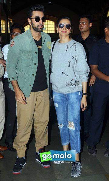 Ranbir Kapoor & Deepika Padukone snapped in Mumbai Central, Mumbai