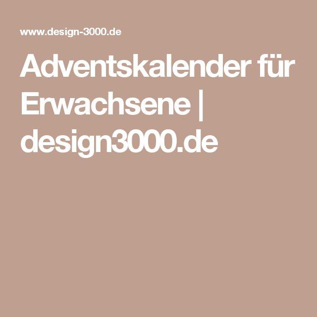 Adventskalender für Erwachsene | design3000.de