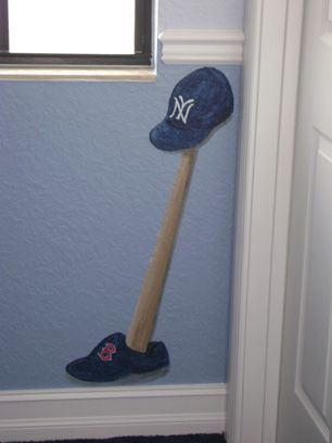 new york yankees mural for boys - New York Yankees Bedroom Decor
