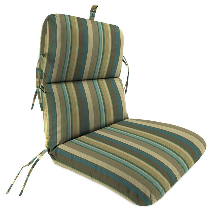 Outdoor Knife Edge Dining Chair Cushion In Draw The Line