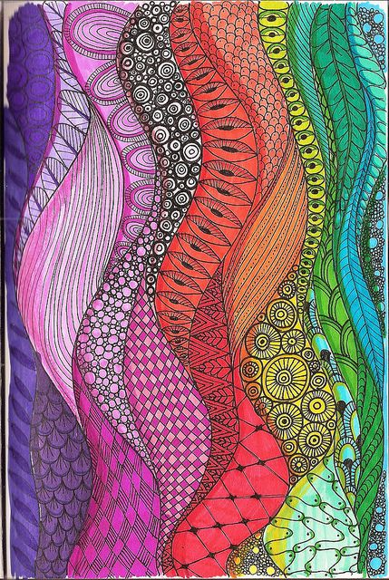 Colourful zentangle