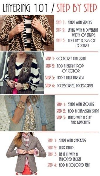 Master the art of layering, one step at a time. | 22 Fashion Infographics You Need In Your Life