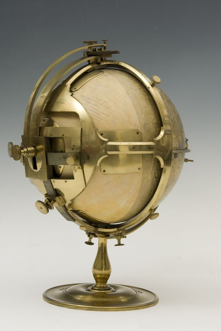 Selenographia Moon Globe, by John Russell, London, 1797. Printed moon globe with mechanical stand to display lunar libration. There is a small rotating earth globe close to the lunar surface. If this is meant to represent the apparent size of the earth as viewed from the moon, then it must be based on the angle subtended at the center of the moon rather than at its surface.