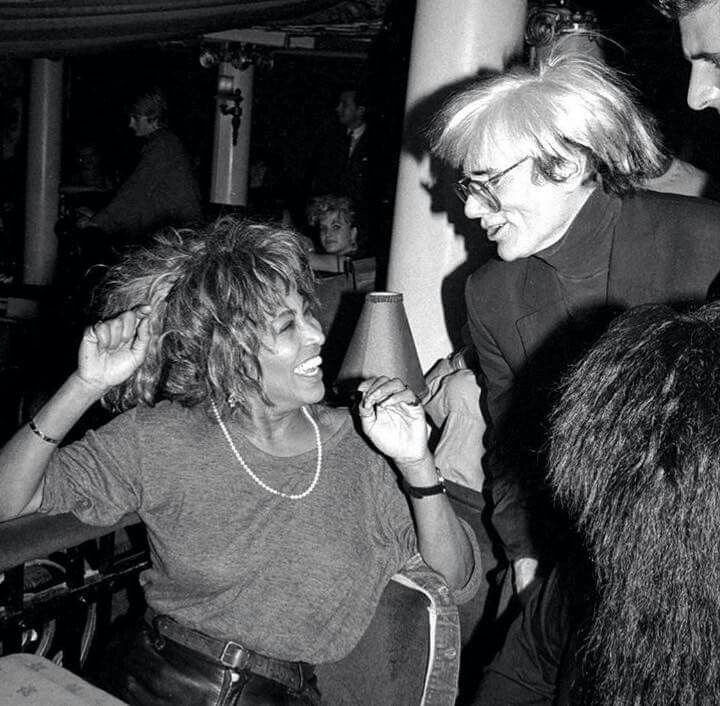 Tina Turner with Andy Warhol 1985