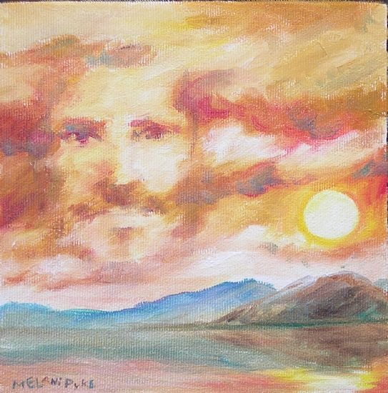 "Psalm 36: Look to the Heavens by Melani Pyke Oil ~ 6"" x 6"""