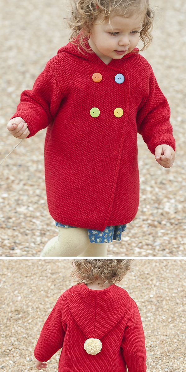 Free Knitting Pattern for Plumpton Coat – Hooded c…