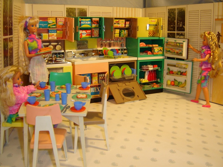Barbie Dolls Hello Dreamhouse Dollhouse W Kitchen: 17 Best Images About Blythe Doll's House & Decor 1:6 On