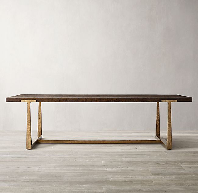 T Brace Rectangular Extension Dining Table In 2020 Extension Dining Table Dining Table Rectangular Dining Table