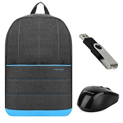 Vangoddy Grove Camping Backpack [Baby Blue] for Samsung ATIV Book 9 Plus 13.3 / Microsoft Surface Book 13.5 with USB Mouse & 4GB Thumbdrive