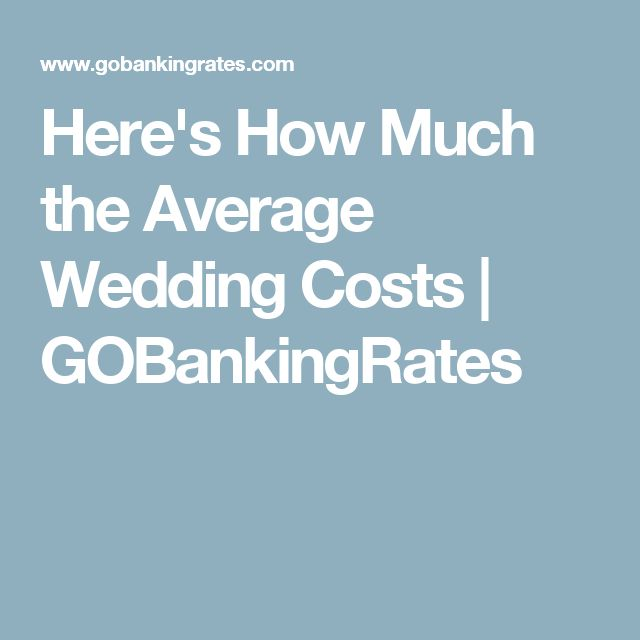 Here's How Much the Average Wedding Costs | GOBankingRates