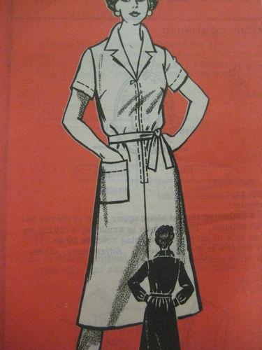 Vintage Mail Order 9162 DRESS w/ FRONT ZIPPER & TIE BELT Sewing Pattern Women   eBay