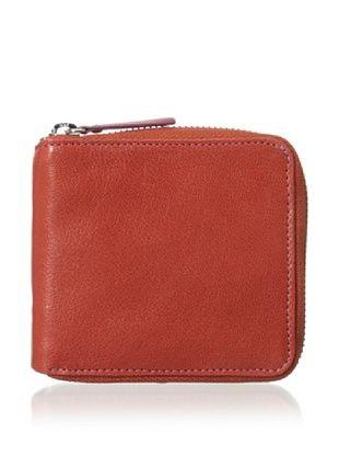 54% OFF Tusk Women's Siam Zip French Wallet, Tangerine/Plum