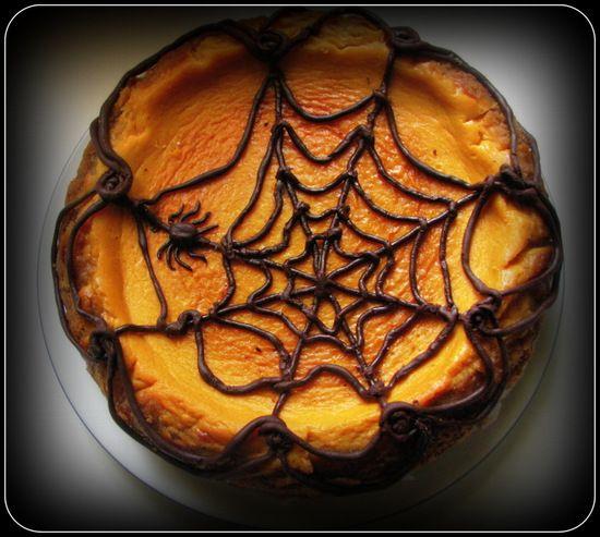 Thermomix Tarif Defterim: Spider-web Pumpkin Cheesecake