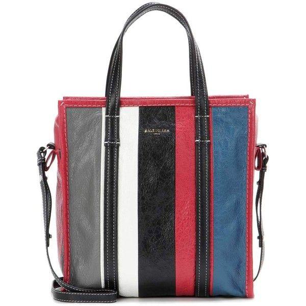 Balenciaga Bazar Small Leather Tote (€1.375) ❤ liked on Polyvore featuring bags, handbags, tote bags, multicoloured, genuine leather handbags, balenciaga purse, balenciaga handbags, genuine leather purse and tote handbags