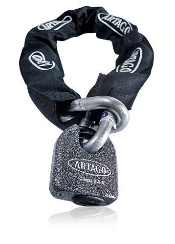 Artago 68T170 Motorcycle Chain 170 cm and Lock padlock Maximum Levelwww.thebestpadlock.com