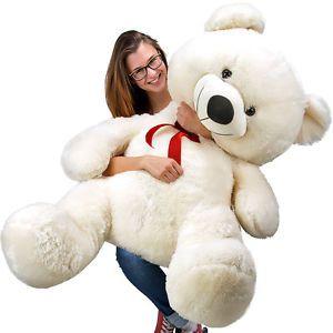 Grand nounours géant Ours en peluche ourson XXL Teddy Bear 150 cm - BLANC