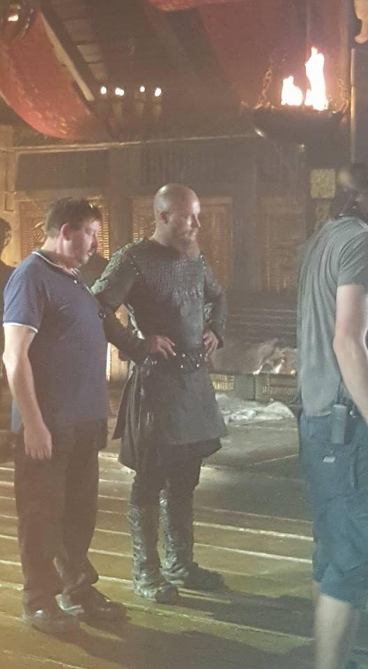 Travis on set #Vikings Season 4. Source SamaFiona ZBagna FB #Vikingsseason4…