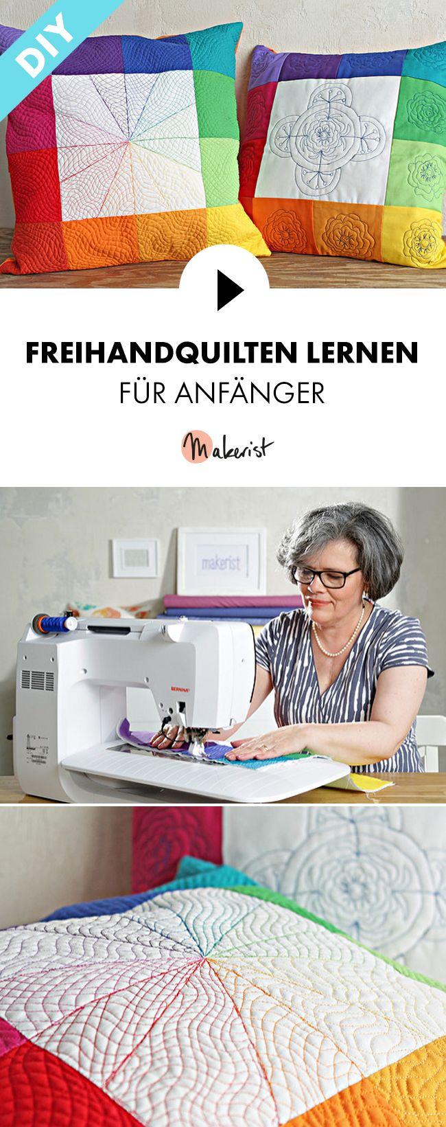 Freihandquilten lernen für Anfänger - Nähen lernen Schritt für Schritt erklärt im Video-Kurs via Makerist.de