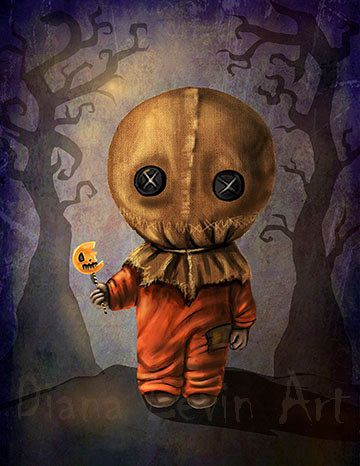 Sam Art Print Trick or Treat Spooky Halloween 8.5 by DianaLevinArt