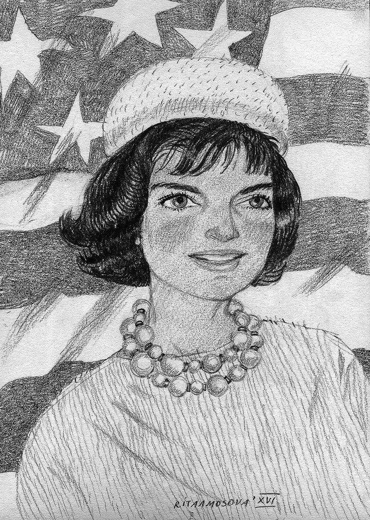Portraits on Behance Jacqueline Kennedy