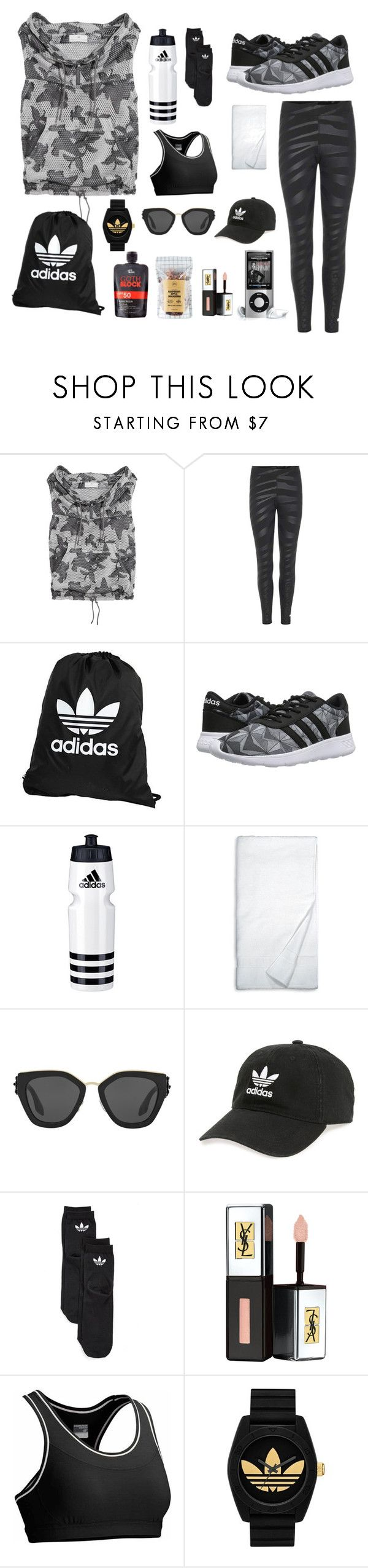 Good Morning, Let's to Gym by risalba on Polyvore featuring adidas, Icebreaker, Prada, Yves Saint Laurent, DKNY, Nicolas Vahé and Let it Block