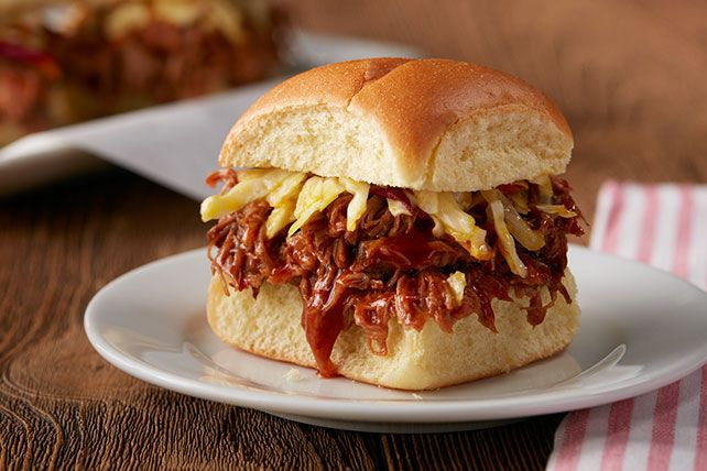 Sounds like an Oktoberfest special—but these beer-and-BBQ slow-cooker pulled pork sliders taste great any time of year.