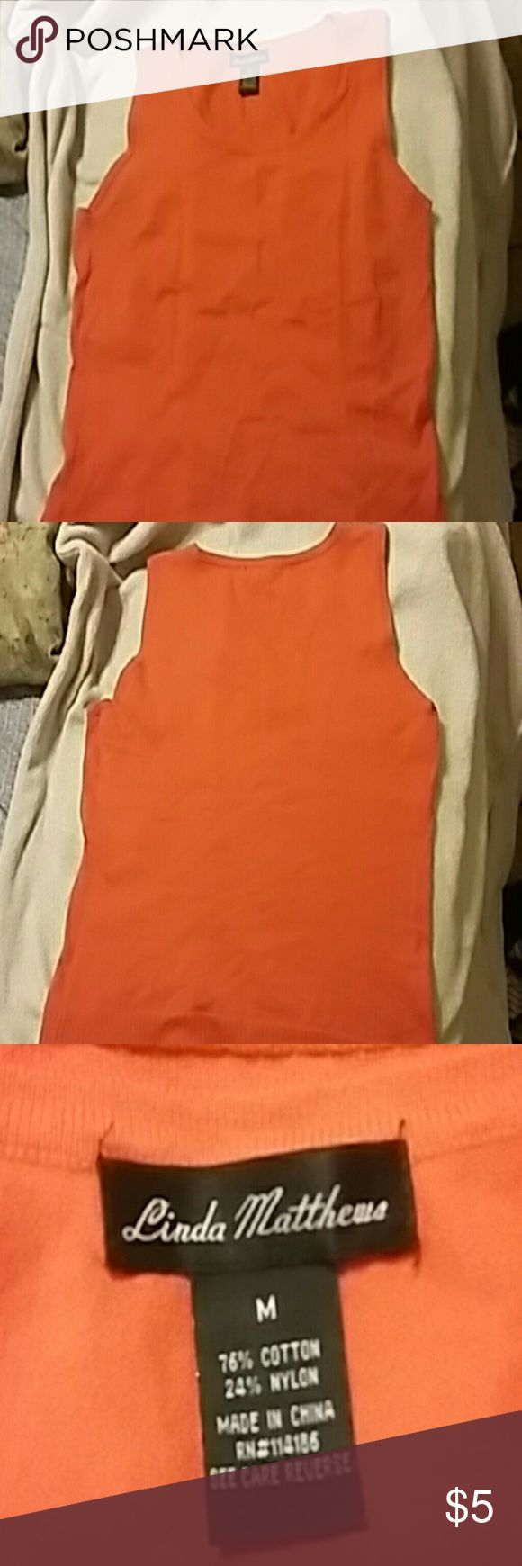 NEW ITEM ***CLOSET SALE*** Orange pullover vest Orange sleevless pullover best Great over shirt or tee Wear with jeans,skirt,or slacks 36 bust Sweaters Crew & Scoop Necks