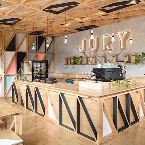 Jury coffee melbourne project biasol design studio a cafeteria se encontra em pentridge um - Bar cuisine studio ...