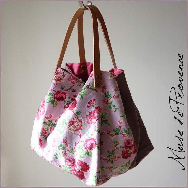 sac cabas fait main en velours rose 3