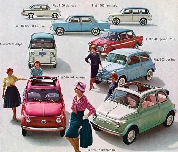 Fiat - the green one... cant you see me in this? 'yooo-hoooo' with a wave