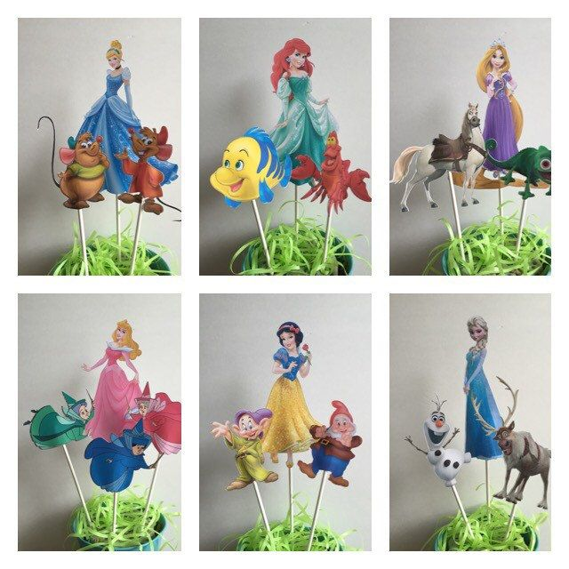 Disney Princess Centerpiece, Disney Themed Birthday--The perfect addition to your Disney themed event! by TheresasPaperCrafts on Etsy
