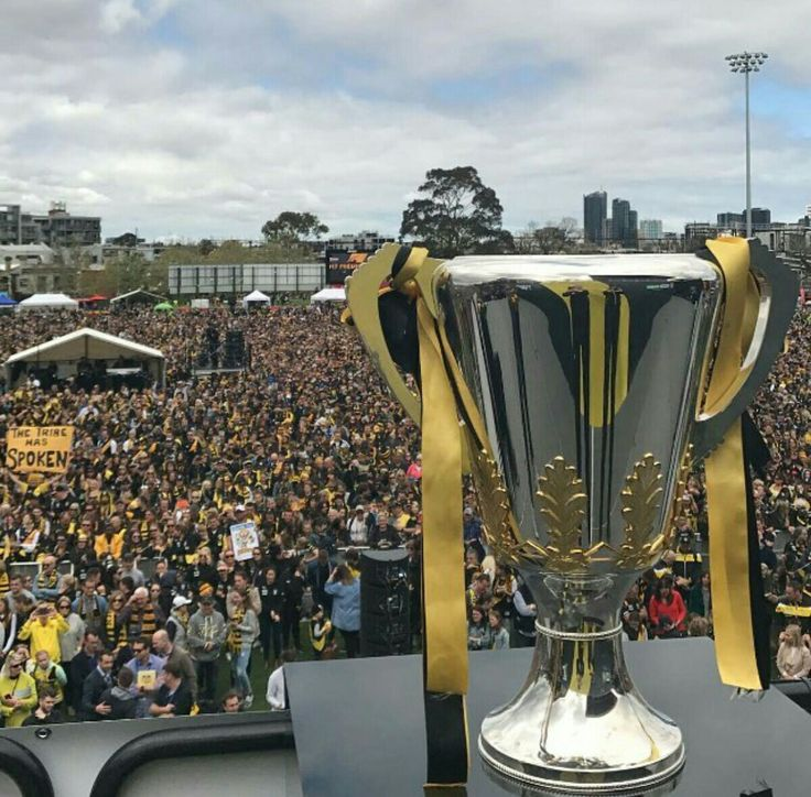 Premiership cup at Punt Road Oval