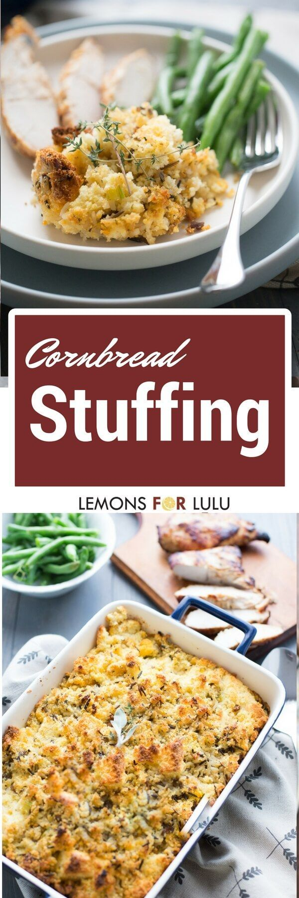 Some think the stuffing is the best! I guarantee this easy cornbread stuffing recipe will be the first to go during Thanksgiving or any meal!