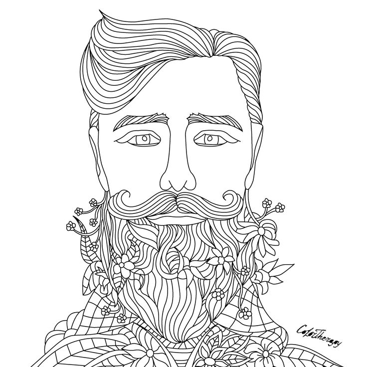 beard coloring pages   3173 best images about Coloring Pages on Pinterest ...