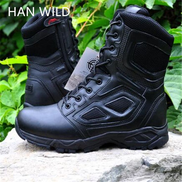 Men Boots Army Shoes Genuine Leather Combat Assault Boots SWAT Military Desert Shoes For Men Ankle Boots Work Army Botas