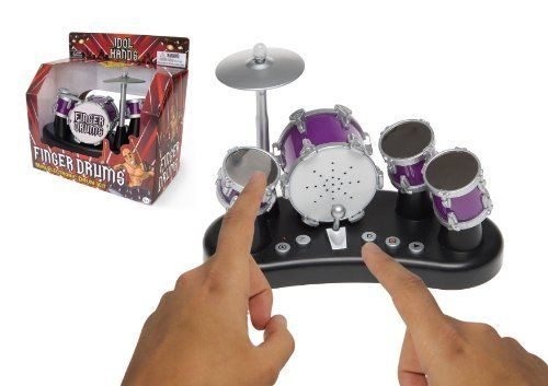 Bluw Inc. Rockstar Finger Drums by Bluw Inc. $21.89. From the Manufacturer                Turn your drumming dreams into a reality with this touch sensitive Finger Drum Kit.                                    Product Description                This Finger Drum Set lets you easily make your own beats in a miniature table drum set! Tap the snare, the small and the big tom tom, and hit the base as this real life sounding drum plays your masterpiece! Play the drums by tapping ...