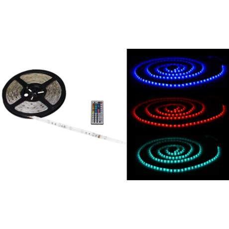 Color LED Tape Light Kit 16-Foot with Remote Control - #3F949 | LampsPlus.com